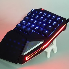 Delux T9 Plus Mechanical Keyboard Single Hand Operation Gaming Keyboard RGB Light