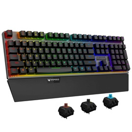 RAPOO V720 Ergonomic Mechanical Keyboard Cool Rainbow Led Backlight Usb Gaming Keyboard