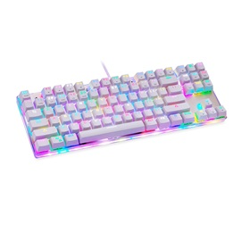 Motospeed K87S USB Gaming Keyboard 87keys Blue Switch RGB Backlight Keyboard for MAC/Desktop