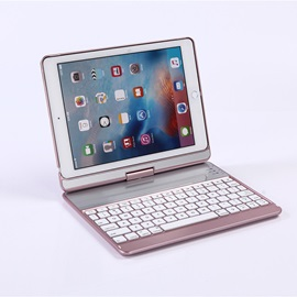 K760 Rotatable Bluetooth Keyboard with Back LED Light for iPad Pro 9.7/Air 1/2