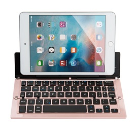 F18 Wireless Bluetooth Keyboard Triple-foldable Keyboard for iPad/Android Tablets