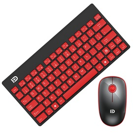 K1500 Ultra Portable Silent Botton Wireless Keyboard and Mouse Combo