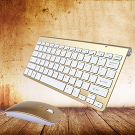 Ultra-thin Mini Wireless Keyboard and Wireless Mouse Combo