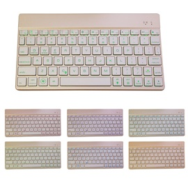 Mini Ultra-thin Bluetooth Keyboard with Colorful Backlit