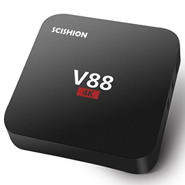 SCISHION V88 TV Box 4K Android1G+8G WiFi Full Loaded Smart Media Player