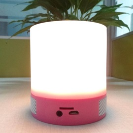 Smart Wireless Bluetooth Speaker Touch Sensor LED Dimmable Night Light