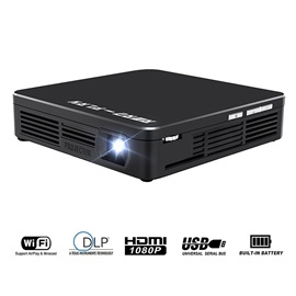 HP 200 Portable Projector HD 1080P 120-inch Screen Home Theater WiFi/HDMI Connection Pocket Multimedia Projector