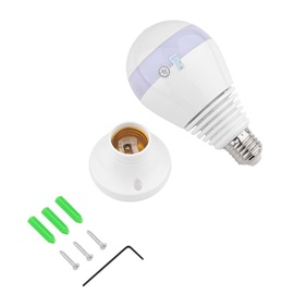 V380 960P Wireless Surveillance Cameras LED 360 Degree Panoramic White Light Bulb for Home Security