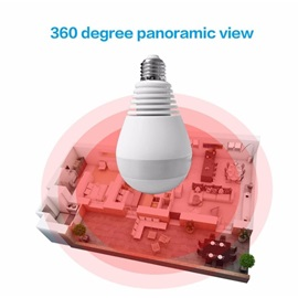 V380 960P Wireless IP Cameras LED 360 Degree Panoramic White Light Bulb Surveillance Camera for Home Security