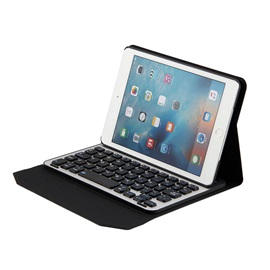 iPad Mini4 Bluetooth Keyboard with Leather Case,Ultra-thin Aluminum Alloy Wireless Keyboard