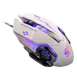 V5 USB Wired Gaming Mouse,Mute Mouse for Desktop/Laptop