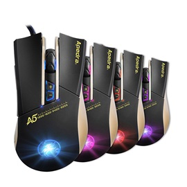 APEDRA A5 Wired Mouse 3200 Dpi 5 Adjustment Levels with 7 Buttons & LED Light Games Mouse