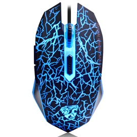 NAFFEE Wired Mouse with Colorful LED Light & 6 Buttons 2400 Dpi Games Mice