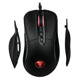 M98 1.8m Wired Mouse 4000 DPI with 7 Keys & RGB Light Games Mice