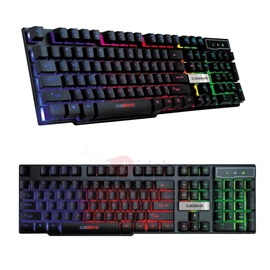 VR6 1.5M Wired Mechanical Keyboard with 104 Keys & Colorful Back-light Support Waterproof