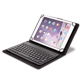 Portable Wireless Bluetooth Keyboard with Mount Case for 9-inch to 10.1-inch Tablets