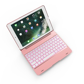 F19A Portable Bluetooth Keyboard ABS Full Cover Case for 2017 iPad 9.7/Pro9.7/Air2/Air1