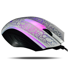 Warwolf M01Computer Mouse Wired 3D 4D Gaming Mouse Gamer Mute Button Silent Click