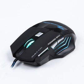 ESTONE X7 Ergonomics Mouse with LED Light Support Adjustable DPI Wire-control Mouse