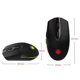 M102 Wireless USB 2.4G 6 Keys with Colorful Light Mouse