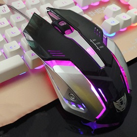D5 Wired Mouse 4 Buttons 1000 Dpi 3 Adjustment Levels Gaming Mouse for PC