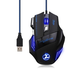 Zelotes T80 5500 DPI 7 Button LED Optical USB Wired Gaming Mouse T80 Mice for Pro Gamer