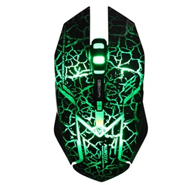 E-3LUE USB Wired Mouse,Crack Optical Gaming Mouse for Laptop/Desktop