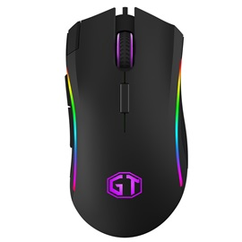 DeLUX M625 RGB Luminous Ergonomic Optical Wired Computer Gaming Mouse for PC&Mac Gamers