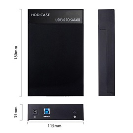 USB 3.0 to SATA External Hard Drive Enclosure Case for 2.5/3.5 Inch HDD and SSD