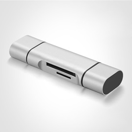 Micro 5Gbps Card Reader for Macbook/IPhone Support Type-c/USB 3.0/TF-card/SD-card
