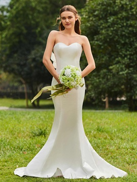 Strapless Ruffles Mermaid Wedding Dress