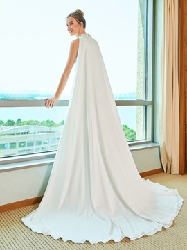 Mermaid Split-Front Beading Wedding Dress with Train