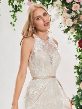 Criss-Cross Straps Mermaid Lace Wedding Dress