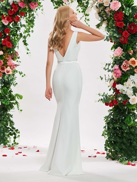 Beading Lace Sheath Wedding Dress