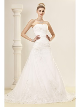 Elegant Trumpet/Mermaid Sweetheart Chapel Sequins Lace Dasha