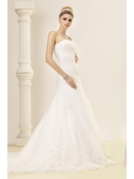 Elegant Trumpet/Mermaid Sweetheart Chapel Sequins Lace Dasha's Bridal Gown