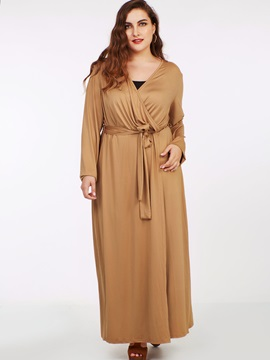 Bowknot Ruffled Expansion Maxi Dress