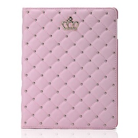 High Quality Crown Design PU Leather Cover Back Case For Ipad Mini 1/2/3