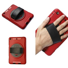 Hybrid Rugged Hand-Held Shockproof Cover with Rotatable Stand for iPad 5/6