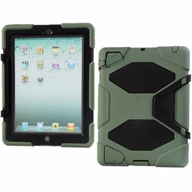 Ultra Silicon PC Multifunctional Case Armor Cover Stand for iPad Air 2