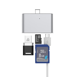 Portable Micro SD Card Reader Support Type-c/OTG/HUB/TF Card