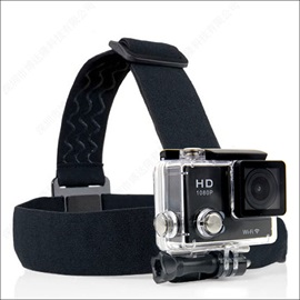 Black Skid Resistance Headbands For Sports Camera