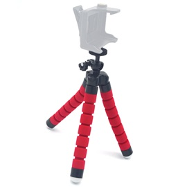 Mini Portable Flexible Sponge Octopus Tripod Stand Mount With Holder