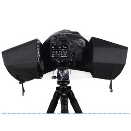 Portable Camera Rain Cover,Folding Waterproof Cover for Nikon Canon Sony Digital Camera