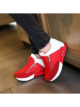 Color Block Elevator Heel Women's Sneakers