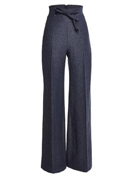 Gray Wear To Work Palazzo Pants