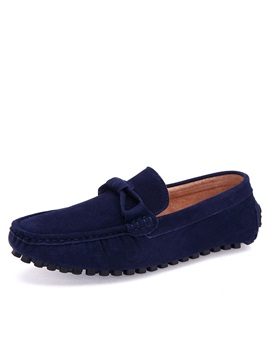 Bowtie Suede Slip-On Driving Shoes