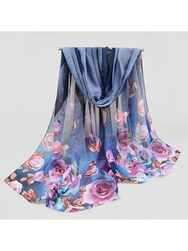 Colorful Chiffon Printed Scarf