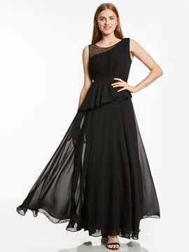 Straps Pleats Tiered Long Red Evening Dress & romantic Featured Sales