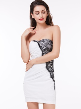 Sweetheart Lace Pearls Sheath Cocktail Dress & Featured Sales on sale